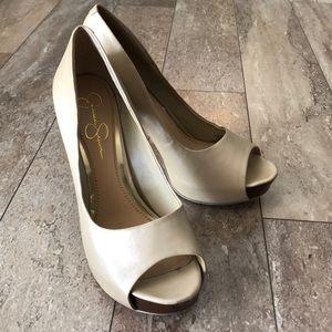 Jessica Simpson peep toe heels 9.5